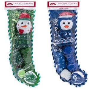 Holiday Time dog toys stocking set - 6 pieces each